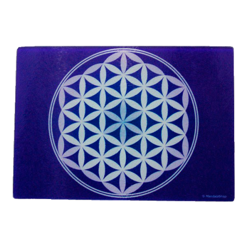 Purple Flower of Life Energising Plate