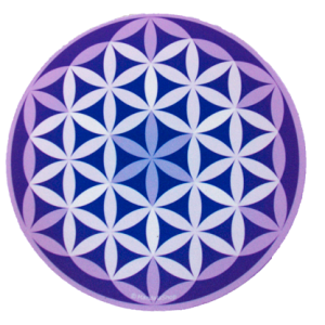 Round mouse pad - Purple Flower of Life