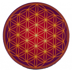 Round mouse pad - Antique Flower of Life