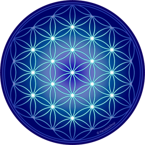 Round mouse pad - Indigo Flower of Life