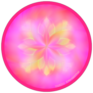 harmonising disk Mandala Source of Happiness and Enthusiasm