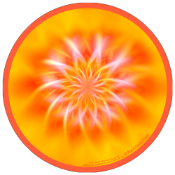 harmonising disk Mandala Finding what one is born for