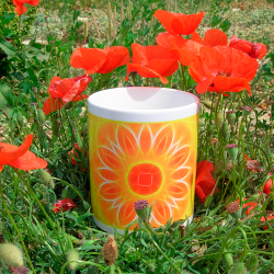 Panoramic mug Mandala of Abundance