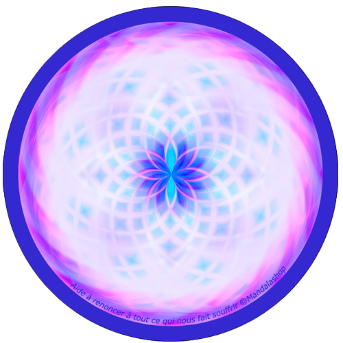 Harmonising disk Mandala that helps to let go all that makes us suffer