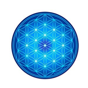 Flower of Life Round Magnet (7 colours at choice)