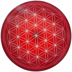 Round Energising Plate Red Flower of Life