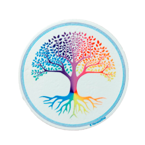 Tree of Life Round Magnet (white background)