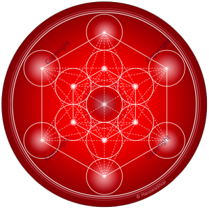 Harmonising disk Metatron's Cube - 7 colours at choice (from red to purple)