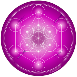 Round mouse pad Violet Metatron's Cube