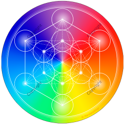 Round mouse pad 7-Ray Metatron's Cube