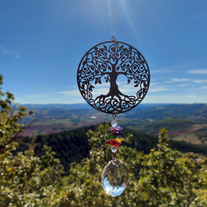 Kit of Flower of Life and Tree of Life Suncatchers