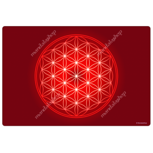 Red Flower of Life Harmonising Mat
