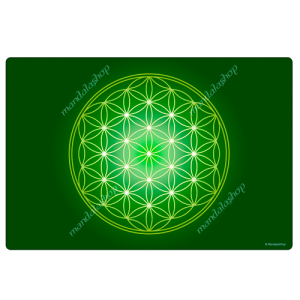 Green Flower of Life Harmonising Mat
