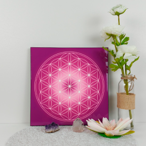 Flower of Life wooden energising tray (chakras' colours)