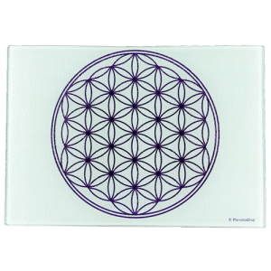 White Flower of Life Energising Plate