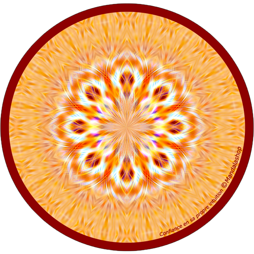 Harmonising disk Mandala of confidence in one's own intuition