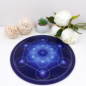 Metatron's Cube Round Energising Plate (7 colours at choice)