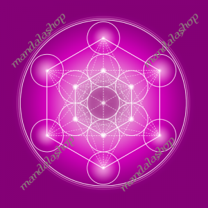 Metatron's Cube canvas (7 colours at choice)
