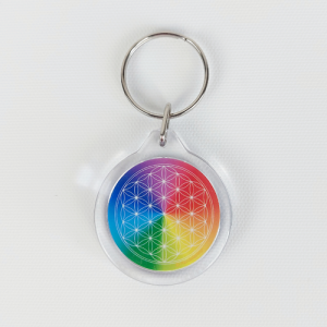 7-Ray Flower of Life Keychain