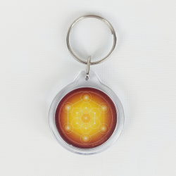 Metatron's Cube Keychain (10 colours at choice)
