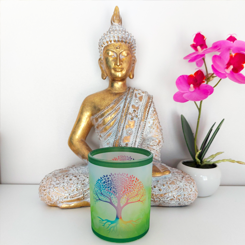 copy of Tree of Life (white background) candle holder