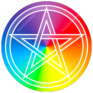 copy of Round mouse pad Pentacle