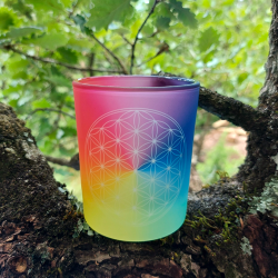 7-chakra Flower of Life candle holder