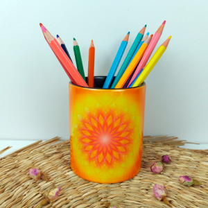 Mandala of a strong and unfailing will  in the home pencil holder