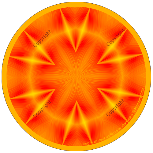 Harmonising disk Mandala that moves forces of destruction away from us