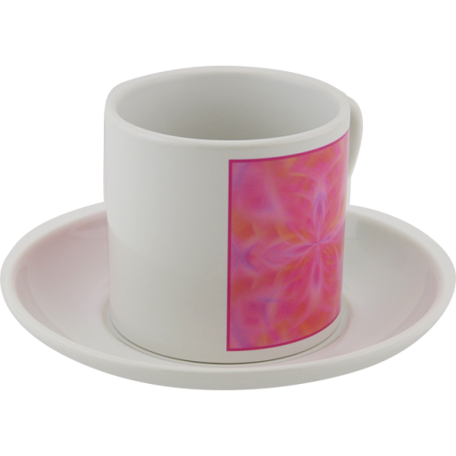 Tea cup Mandala that attracts the solar energy of the smile and good mood