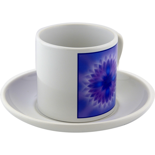 Tea cup Mandala of the higher force within to overcome one's own imperfections